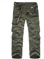 Erkek Sonbahar Pantolon Midweight Kargo Pantolon Rahat Polar Cepler Kürk Pantolon Artı Boyutu 38 40 Moda Gevşek Baggy Jog ...