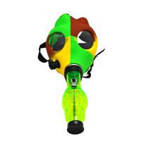 Silicone Eau Bong Masque De Silicone Bongs Coloré Acrylique Bongs Tabacco Shisha Pipes Narguilé Bubblers En Gros par DHL