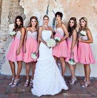 Modest Kısa Genç Gelinlik Modelleri dantel şifon Emprie Kısa Hizmetçi Og Onur Önlük Özel ucuz Wedding Guest Elbise yapmadan