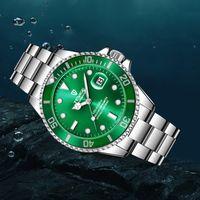 2021 Tevise Modemerk Mannen Mechanische Horloge All Black Stail Stand Automatische Horloge Mode Mannen Lichtgevende Hand Zakelijke Klok