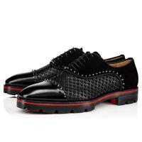 Boş Gentleman Deri Flats Ayakkabı Toka Süper Yuvası ile Kırmızı Alt Oxfords loafer'lar Lüks Moccasin Lastik Kauçuk Taban Gerçek Deri