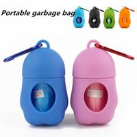 새로운 개 플라스틱 가방 휴대용 애완 동물 쓰레기 디스펜서 케이스 포함 픽업 폐기물을 고물 부대를 위한 개 폐기물을 처분할 수 있는 가방 T2I5336
