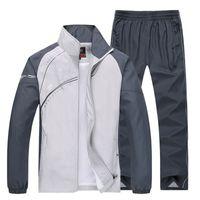 Men Sport Suits Two Piece Sets 2020 Spring Sets Men Sportwear Jogging Sweatshirt+Pants Suits Tracksuits Male Plus Size 5XL
