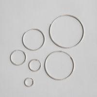 Reale 925 sterling silver cerchio grande cerchio orecchini per le donne boucle d'oreille femme 2019, piccoli cerchi orecchini gioielli moda