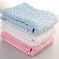 طفل البازلاء غطاء صوفا بطانيات للأطفال لينة رغوة البطانيات رمي سجاد حقيبة النوم 102 * 76CM 6 ألوان