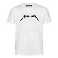 Banda de rock de moda letra impresa camisetas para hombre casual manga corta cuello redondo camiseta suelta fix tops camiseta MC80