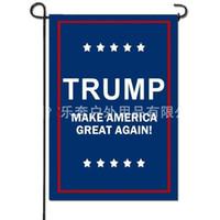 Jardin Trump Lettre Drapeau Keep America Grand rectangle à deux niveaux d'impression numérique Pare-soleil 2020 Indicateurs de campagne 5rbE1