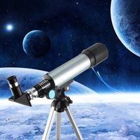 Monoculaire F36050 Télescope astronomique 360x50 Réfracteur Télescope de réfracteur avec des cadeaux d'exploration de trépied portable jouets pour les enfants adultes