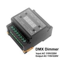 Freeshipping LED DMX Dimmer 220v 110v Salida 3 canales DMX dimmer triac dimmer para 220v lámpara LED