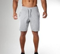Moda Spor Salonları Erkek Jean Şort Erkekler Için Spor Tayt Külot Elastik Bel Giyim Erkek Sweatpants Egzersiz Şort Esneklik