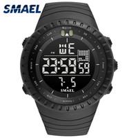 2020 새로운 뜨거운 smael 브랜드 스포츠 시계 남자 패션 캐주얼 전자 제품 손목 시계 다기능 시계 50 미터 방수 시간 1237