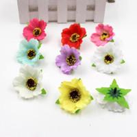 DIY 결혼식 차 파티 장식 공예에 대한 도매 - 20PCS / 많은 미니 인공 향기로운 환경 보호 작은 벚꽃 머리 꽃