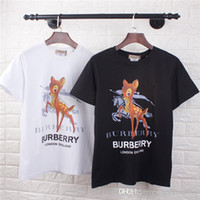 19ss luxury brand design BBR Warhorse Fawn print Tee Shirt Uomo Donna Breatheable Fashion Streetwear Felpe T-shirt outdoor