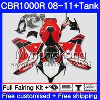 Bodys + Tank Für HONDA CBR 1000RR CBR 1000 RR 2008 2009 2010 2011 277HM.45 CBR1000 RR 08 10 11 CBR1000RR 08 09 10 11 Lager roter Rahmen Verkleidung