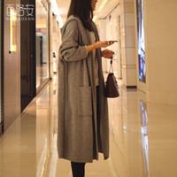 가을 신상품 중간 길이 후드 코트 여성 가디건 재킷 여성의 윈드 자켓 니트 코트 여성 최고 품질