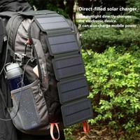 Haoxin SunPower 접는 10W 태양 전지 충전기 5V 2.1A USB 출력 장치 스마트 폰용 휴대용 태양 전지 패널