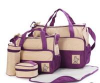Promoción 5 Unids Bolsas de Pañales para Bebés más colores Mamá Bolsa de Maternidad Bolsa de Enfermería Multifuncional Titular de Biberón de Gran Capacidad