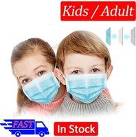 Wholesale Máscara de cara desechable para adultos Los niños protegen las máscaras de 3 capas desgaste facial no tejido a prueba de polvo