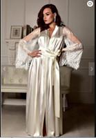 Noir Femmes Nuit Robe Peignoir de jeune mariée de demoiselle d'honneur Robes dentelle robe longue Dressing Pyjama de nuit pyjamas grande taille lingeries