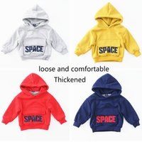 Boys and Girls Winter Hoodies & Sweatshirts Letter Pure Cott...