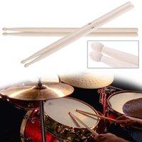 2 pcs drumstick 5A baquetas anti-skid rígidos Baquetas de madeira musical do instrumento de música