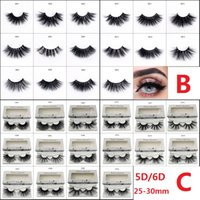 5D 6D 25- 30mm Permanent Thick Fluffy Handmade Soft Mink Eyel...