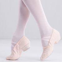 Tanzschuhe Mädchen Leinwand Ballett Erwachsene Praxisschuhe Leinwand Low-Heeled Teacher Tanzschuhe