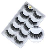 G800 3D Mink Cílios Eye Lashes 5 pares / caixa Feitas À Mão Extensões Da Cruz Da Composição Natureza Longo Grosso Cílios Postiços Full Strip Cílios Falsos DHL