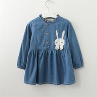 Baby Girls Clothes Long Sleeve Girls Dress Baby Kids Rabbit ...