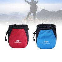 Rock Climbing Chalk Bag Mountaineering Bouldering Weightlifting Gym Magnesium  Storage Pouch Holder with Zip Pocket