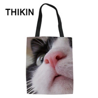 THIKIN Cute Cat Baby Pattern Shopping Bags Ladies Casual Tot...
