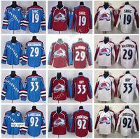 Colorado Avalanche 19 Joe Sakic Jersey Hombres Hockey 12 Jarome Iginla Milan Hejduk 33 Patrick Roy 1 Semyon Varlamov 9 Duchene