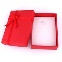 Box di gioielli di moda all'ingrosso, box multi colori anelli, gioielli regalo imballaggio orecchini Holder case 8 * 7 * 2 cm