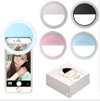 bule rosa branco preto Fabricante LED carregamento do flash beleza preenchimento lâmpada selfie exterior selfie recarregável luz anel para todos telemóvel