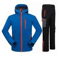 Giacca da esternoShoodies 2021 inverno impermeabile arrampicata montagna giacca da trekking + pantaloni in pile softshell camping caccia sportiva sportiva per uomo