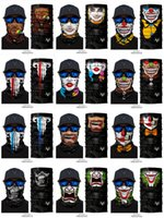 Sports Headband Cycling Riding Outdoor Windproof Face Mask - 3D Printing Cool Clown Joker Skull Ghost Magic Scarf Bandanas Masks