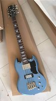 Wholesale blue new 8- string electric bass guitar, color   mi...