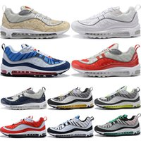 2019 New 98 Camo Cone Mens Running Shoes For Men 98s White R...