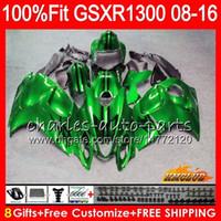 Iniezione per SUZUKI GSXR1300 Hayabusa 08 09 10 2008 2009 2010 lucido verde 25HC.19 GSXR 1300 GSXR1300 11 12 13 2011 2012 2013 OEM carenatura