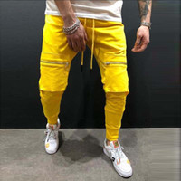 2019 Men Harem Pants Fashion Solid Elastic Waist Joggers Tro...