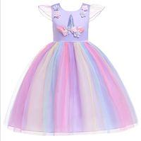Vestido de niña caliente modelos de explosión falda de malla para niños vestido de Navidad vestido de princesa