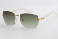2020 завод Оптовая продажа без оправы планка солнцезащитные очки 8100905 большие квадратные солнцезащитные очки металлическая рама простые очки для отдыха угловые очки Tniangle