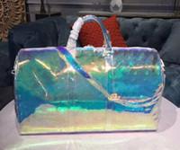Классический лазерной вспышки ПВХ сумочек 50см прозрачная сумка Duffle Brilliant Color Камера Дорожная сумка на ремне сумки Crossbody