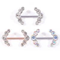 Nouveaux bijoux de piercing anneau Titiller acier chirurgical 316L strass diamant Anneaux Nombril