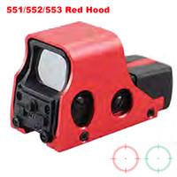 Новый алюминиевый тактический красный зеленый сетки Riflescope голографический красный зеленый точечный прицел Регулируемый 551 552 553 красный капюшон.