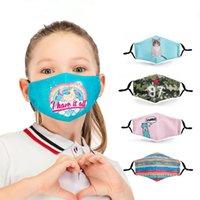 Zohra Designer Infantil Face Mask Digital Impresso Lavável Dustproof Máscaras reutilizáveis respirador 5 camadas filtro de carvão ativado Protective