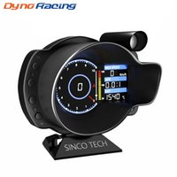 Racing OBD2 Head Up Display Digital Car Dashboard Boost Gauge Temp de velocidad RPM del aceite del agua Voltaje EGT AFR metro del coche DO916 de alarma