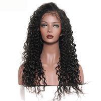 깊은 파도 인간의 머리 가발 표백 된 매듭 레이스 정면 가발 브라질 인도 말레이시아 인간의 머리카락 자연 색 10-22inch