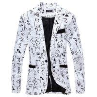 2019 uomini di modo Blazers Lino Abbigliamento Uomo Mens Blazer Jacket di stampa operato alla moda floreali Maschi Suits Blazers