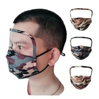 3 in 1 Face Shield Masks Anti Dust Camo Face Masks Washable Oil Protective Mask Drink Mouth Face Masks with hole or zipper CCA12291 100pcs